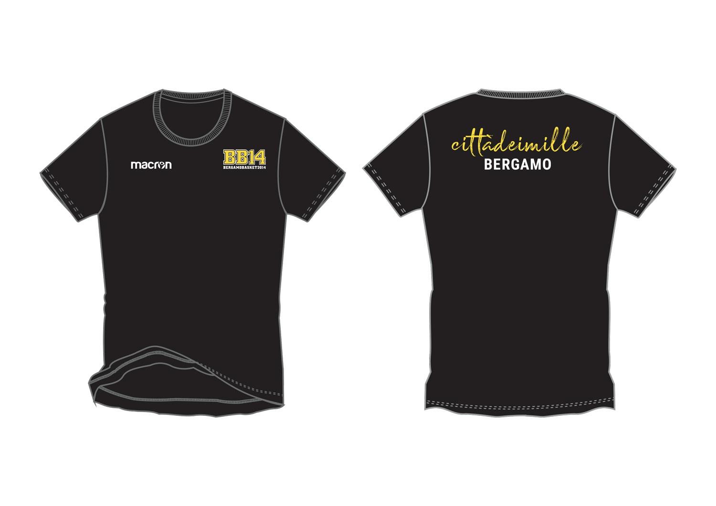b39c015f04678f T-shirt in cotone, colore nero con personalizzazione: