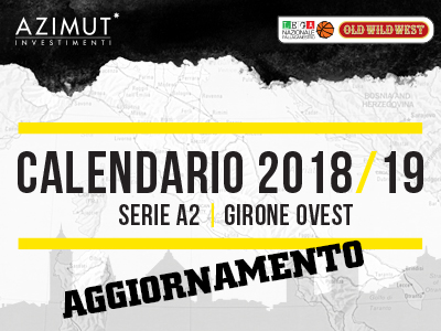Calendario A2.Serie A2 Old Wild West Girone Ovest Ecco Il Calendario